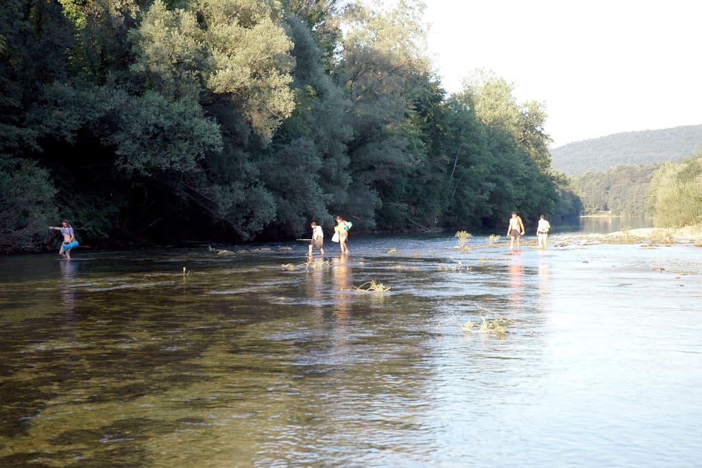 Swimming in Kolpa