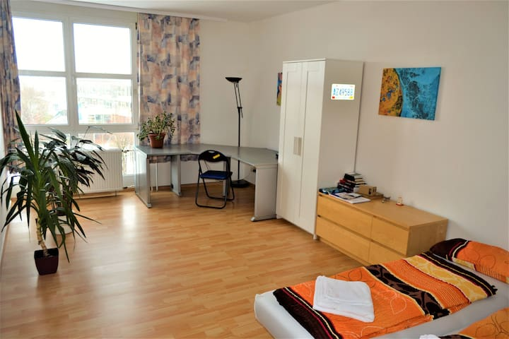 Large and bright room close to City Center - Dresden - Apartamento