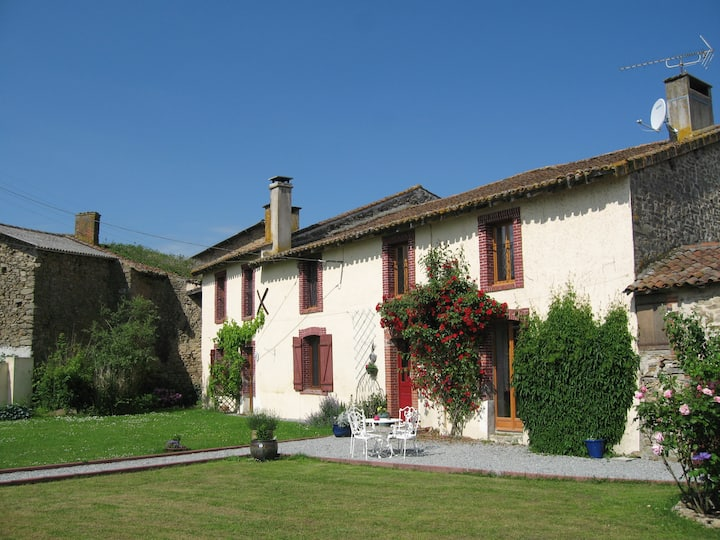 Limousin Farmhouse, characterful and comfy.