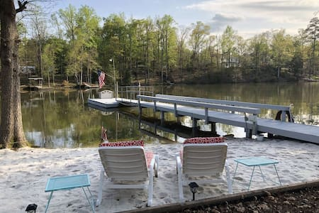 Lake House Cottage with  Boat Ramp, Dock & Beach