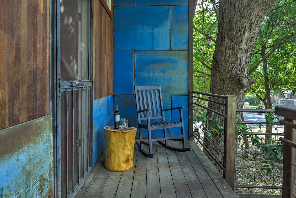 Spend an evening on the front porch and enjoy the fresh air.