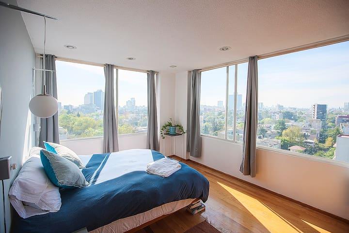 Panoramic view in Condesa w/br - Ciudad de México - Appartement