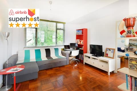 ❤️DISCOUNT: Rare&Bright flat near market/beaches🏖