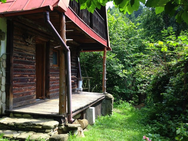 Rustic oasis in Brenna, Poland; Beskidy Mountains - Brenna