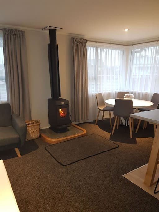 Super cosy house heated by wood fire