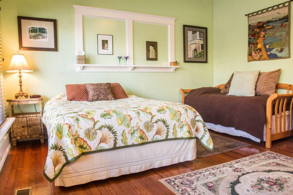 Bedroom 1 (Queen Bed and Single Day Bed with Trundle)