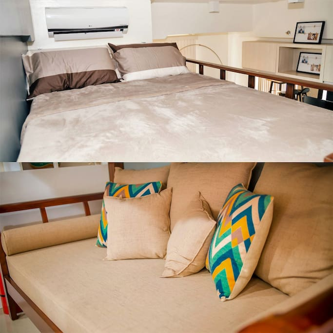 The Bed and Additional Day Bed