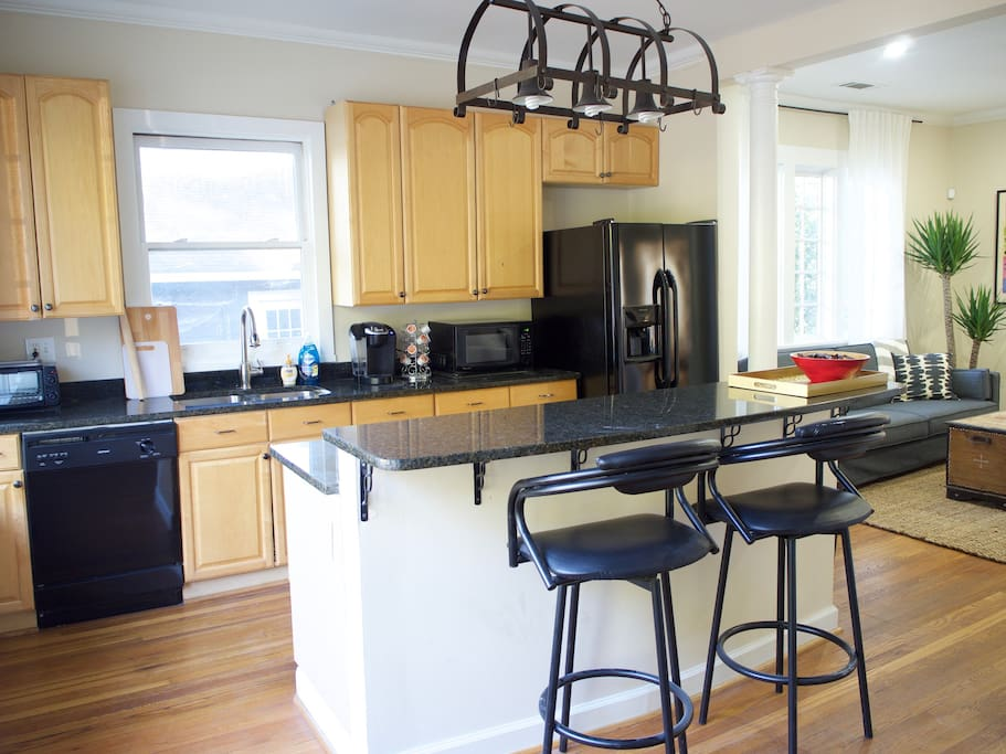 Granite counters and all appliances in the kitchen