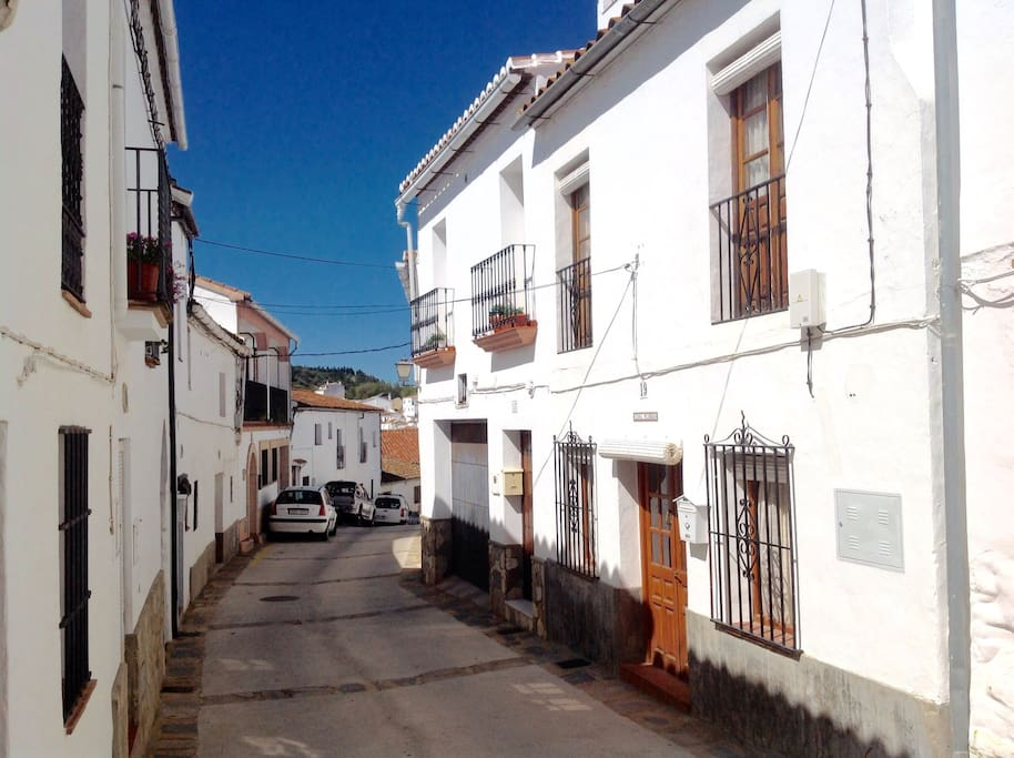 Casa Flores is the house on the right