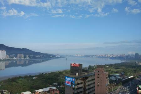 Tamsui River view suite, 2min MRT - Lägenhet