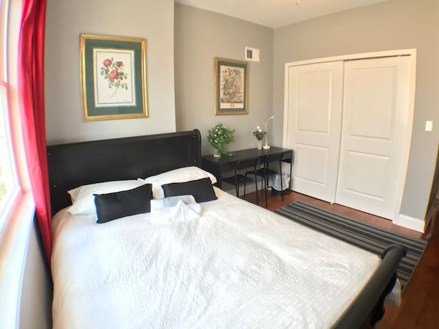 F2. Large Queen Bedroom w/ Private Bathroom