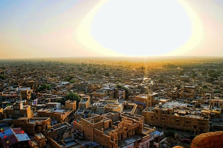 The Sunrise View from The Fort! - Jaisalmer