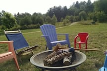 Getting ready for a game of croquet and an evening fire.