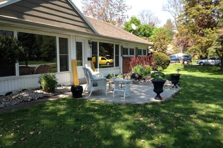 Huge covered patio off your room!!  - Chatham-Kent