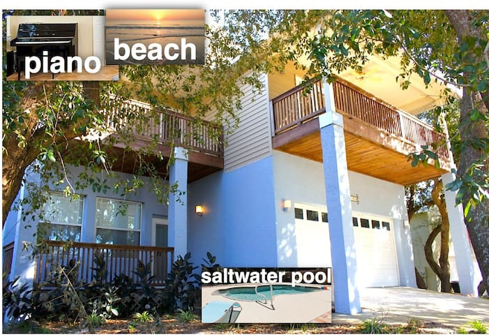 Beach Modern House with heated pool - St. Augustine - Hus