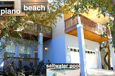 Beach Modern House with heated pool - St. Augustine