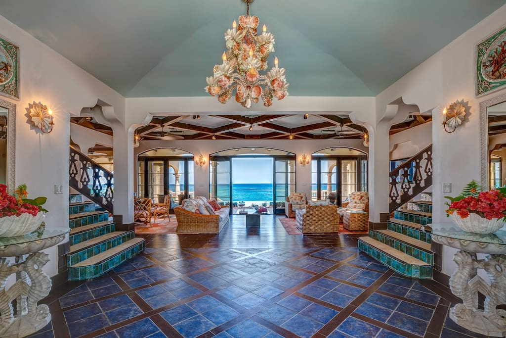 Foyer and ocean view as you step through the front door.