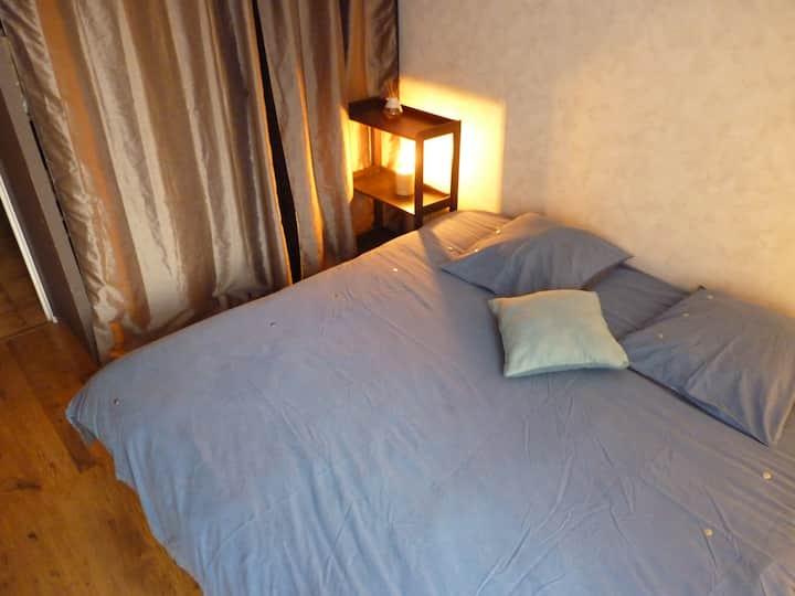 Chambre lit king size, résidence calme, 700m RER C