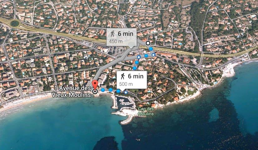 Plage 5 min à pied - 5 mn walk to the beach