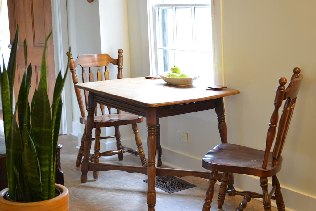 Kitchen dining (extra chairs on request)