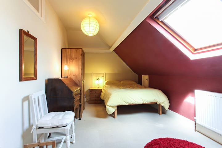 Quirky but Comfortable Attic Room