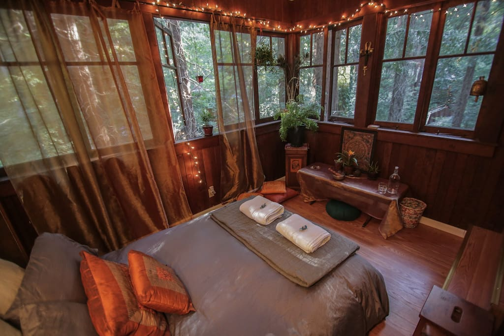Another view of room - wake up to birds and the sound of the creek below.
