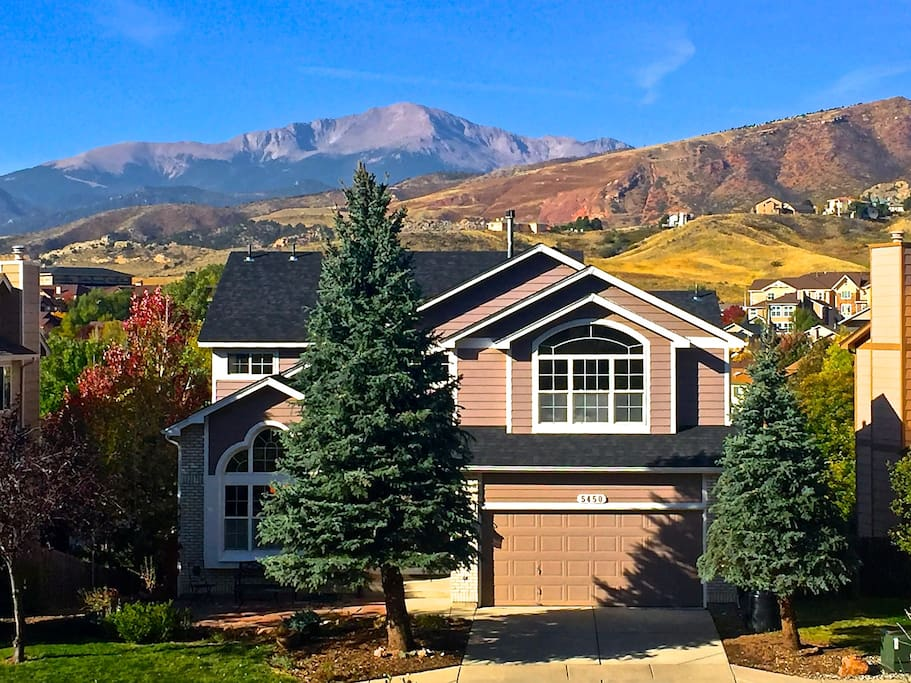 incredible view of pike 39 s peak houses for rent in colorado springs colorado united states