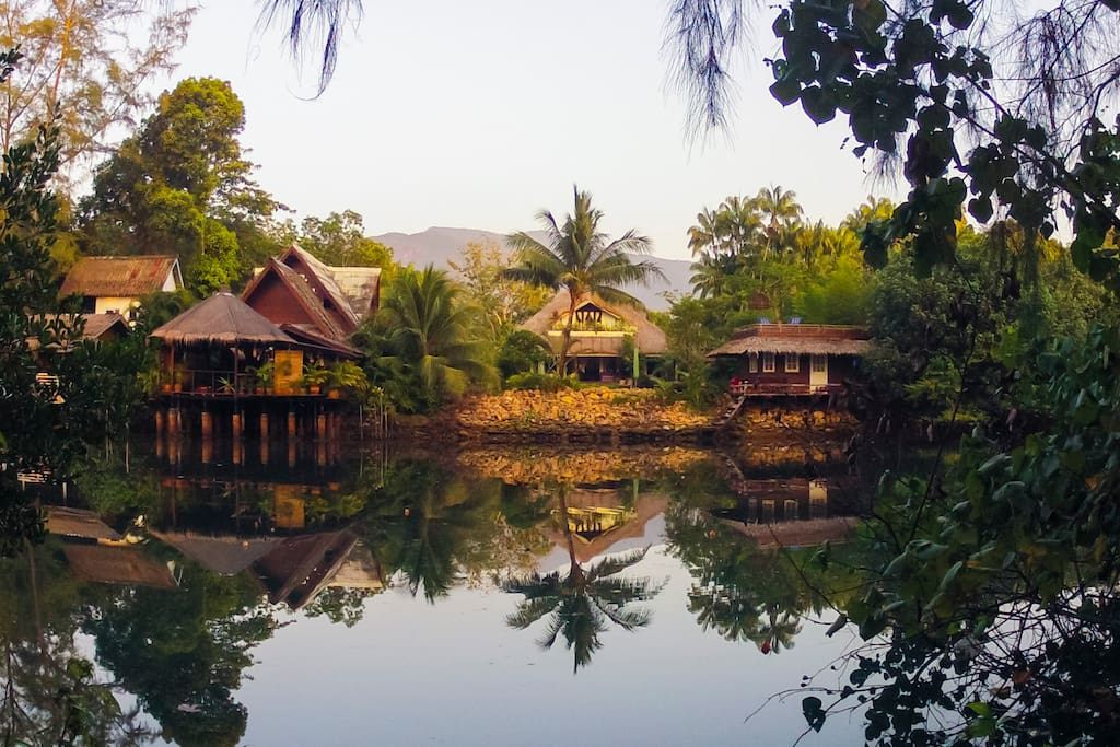 View from the lagoon