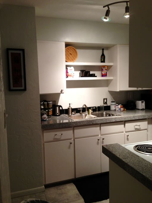 Use of the kitchen and all amenities to cook with.  Dishwasher is available to clean up after yourself