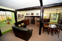 The big sitting room - sometimes used as a dining room