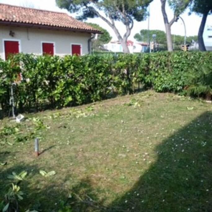 giardino privato retro