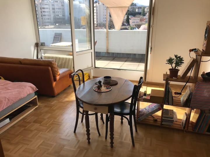 Appartement 2,5 pièces + terrasse à Carouge