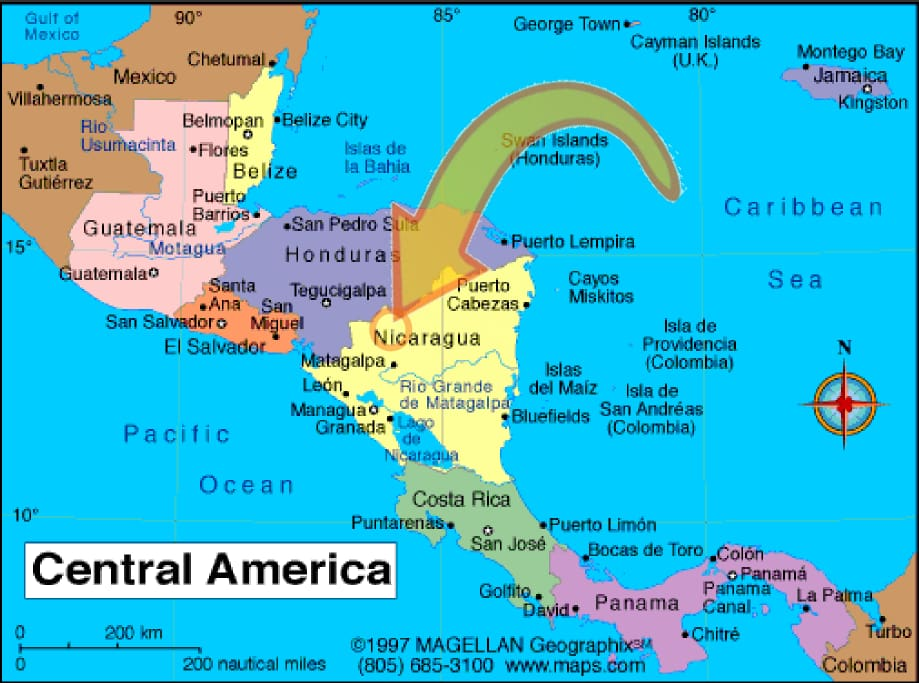 The center of Central America