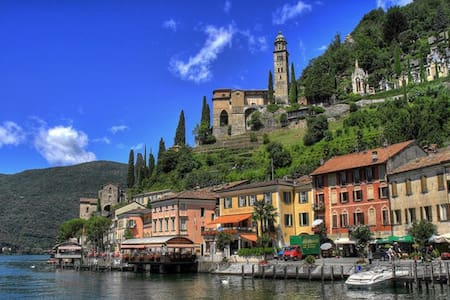 Relax on the shore of lake Lugano