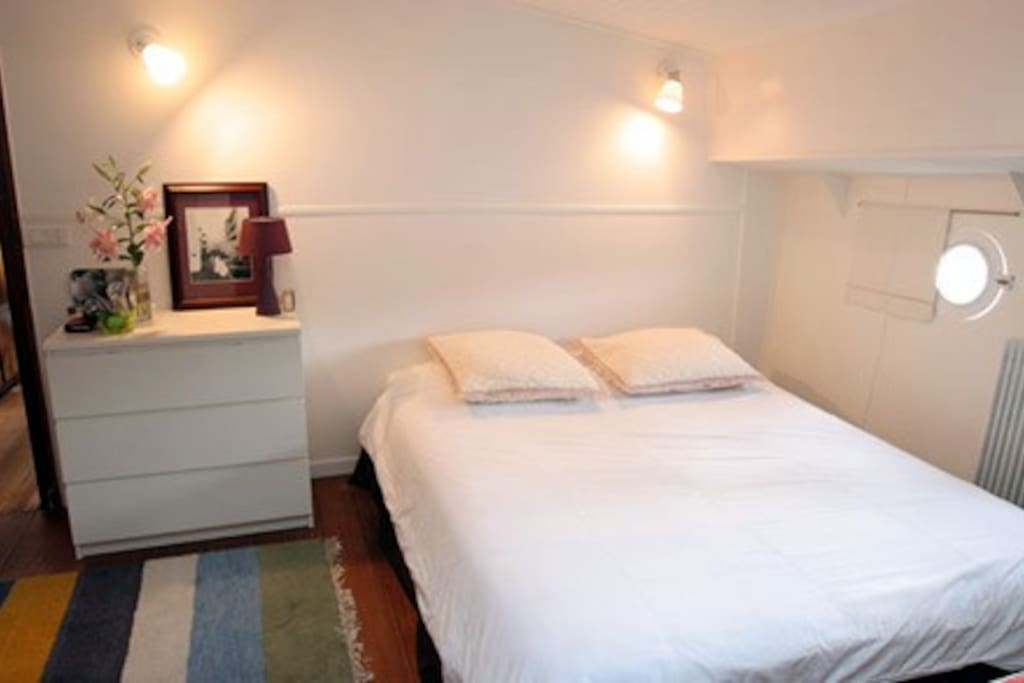 the master bedroom in the main unit