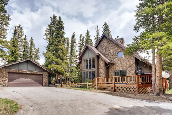 The home sits on a secluded and wooded property.The home and it's surroundings are absolutely gorgeous.