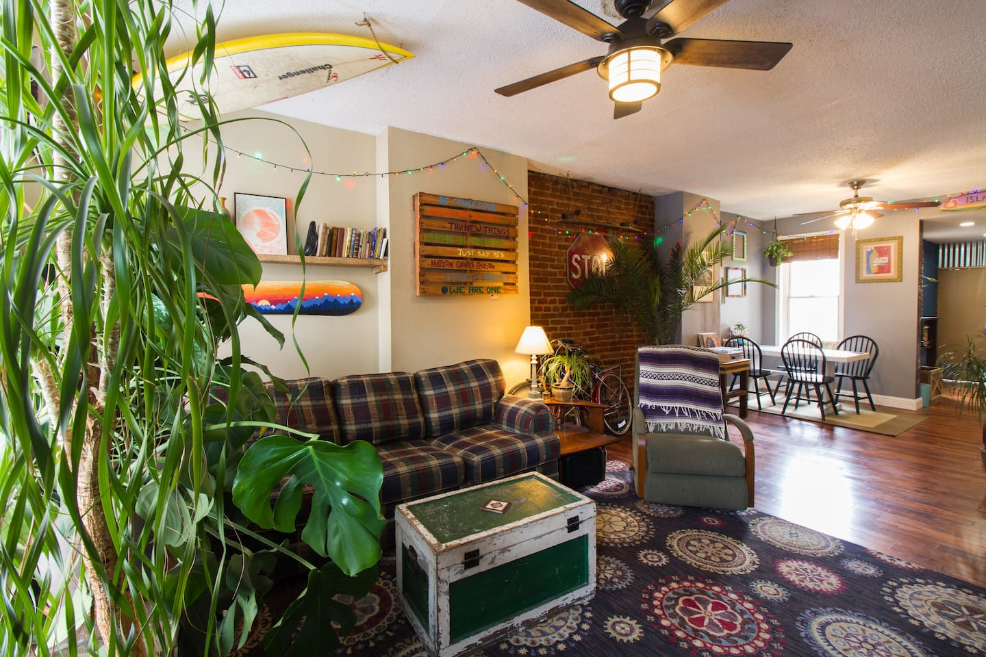 Cozy-Earthy Reclaimed Living Room for all!!