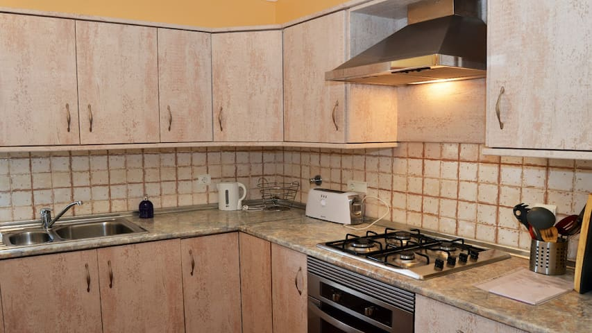 shared kitchen for guests