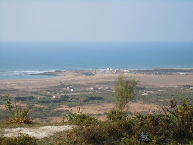 Villa Nord d'Essaouira sur plage - Oum el Aioun - บ้าน