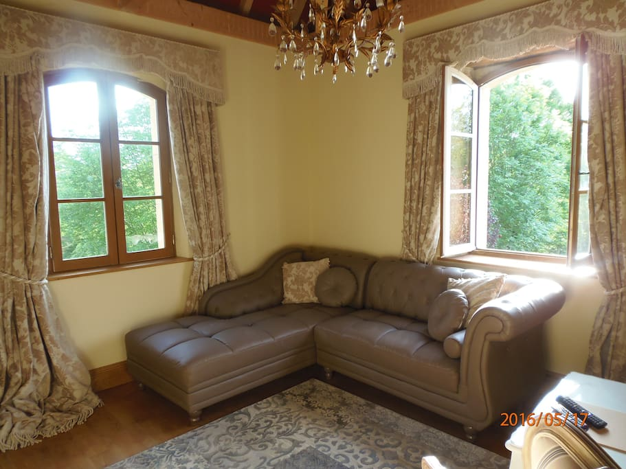 Sunny Lounge Overlooking the Gardens & Surrounding Countryside