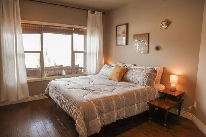 Wake up to more views, or stargaze right from bed in the master bedroom.