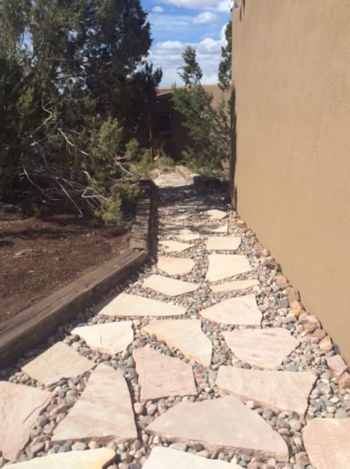 Walk down your private path to your cozy casita