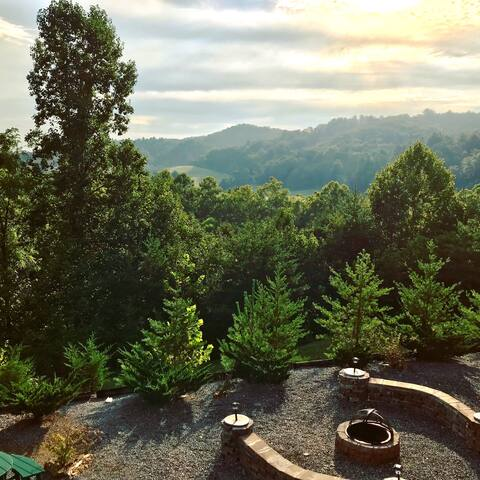 Morning view from deck in September 2018