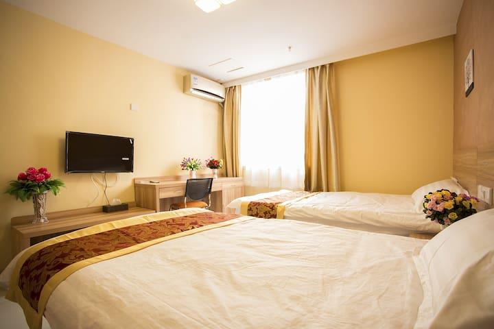 西长安街 独立厨卫 可做饭提供厨具 温馨双床房 - Пекин - Квартира