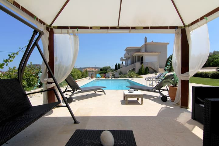 Luxury Villa Abelos, near Athens airport and sea.