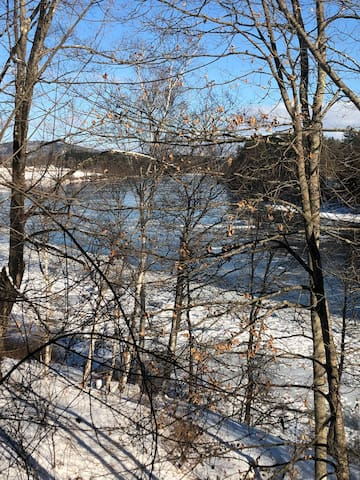View of Connecticut River from bedroom window