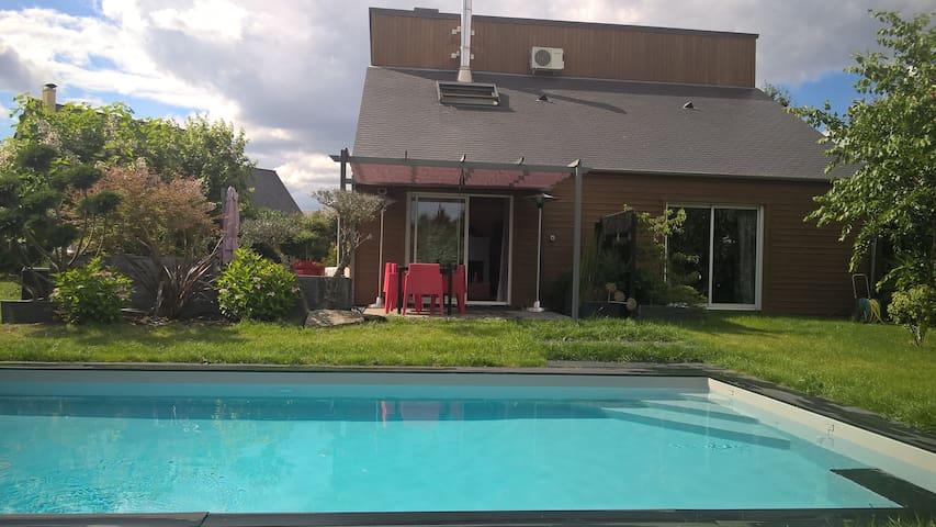 Maison contemporaine sud Loire - Saint-Melaine-sur-Aubance - Dom