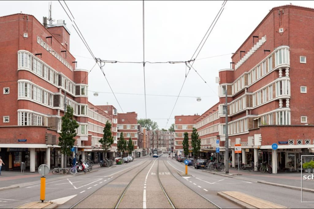 This is our street! Most of the buildings in my neighbourhood were designed in the so-called 'Amsterdam School' style of architecture and built in the 1920s.