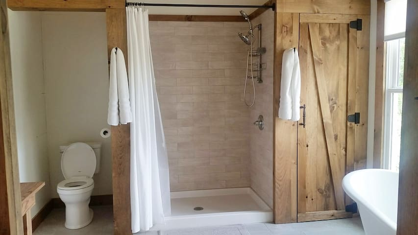 Large 2 person walk in shower