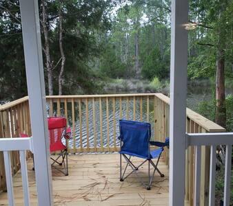 New Waterfront Cabin Mfg Home close 2 beach n fun!